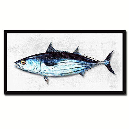 Skipjack Natural Fish Art 14192 White Custom Made Frame Home ...