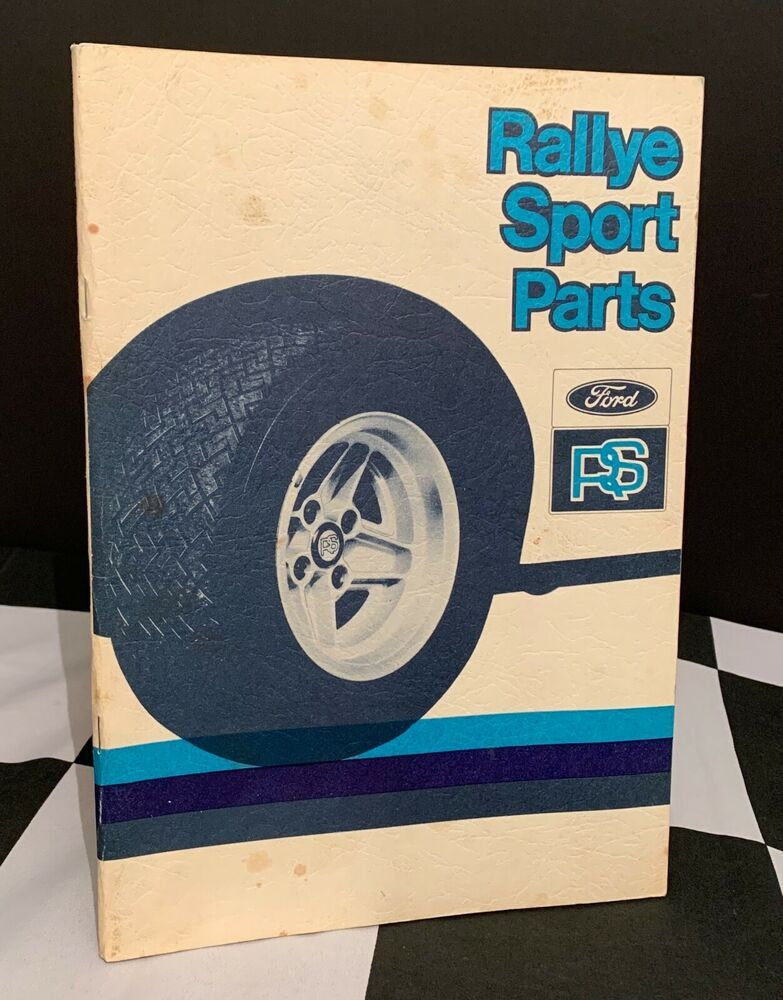 Details About 1982 Ford Rs Rallye Sport Spare Parts Catalogue Book