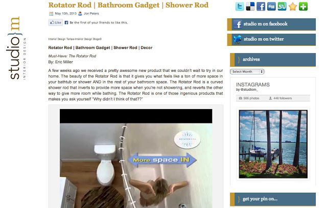 Rotator Rod (rotating, curved shower curtain) rod Review by Interior ...
