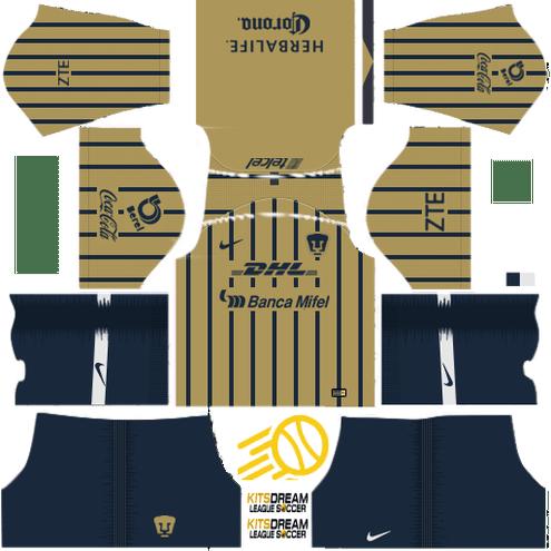 Kits Pumas UNAM Dream League Soccer 2020 / 2019 🥇 Pumas