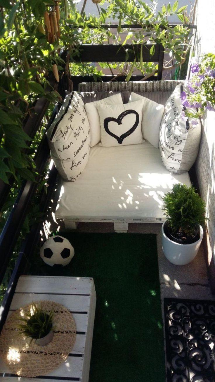 44 Kreative und einfache Balkondekor-Ideen #apartmentbalconydecorating