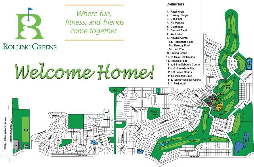 Rolling Greens Community Map Ocala Florida Therapy Pools Florida