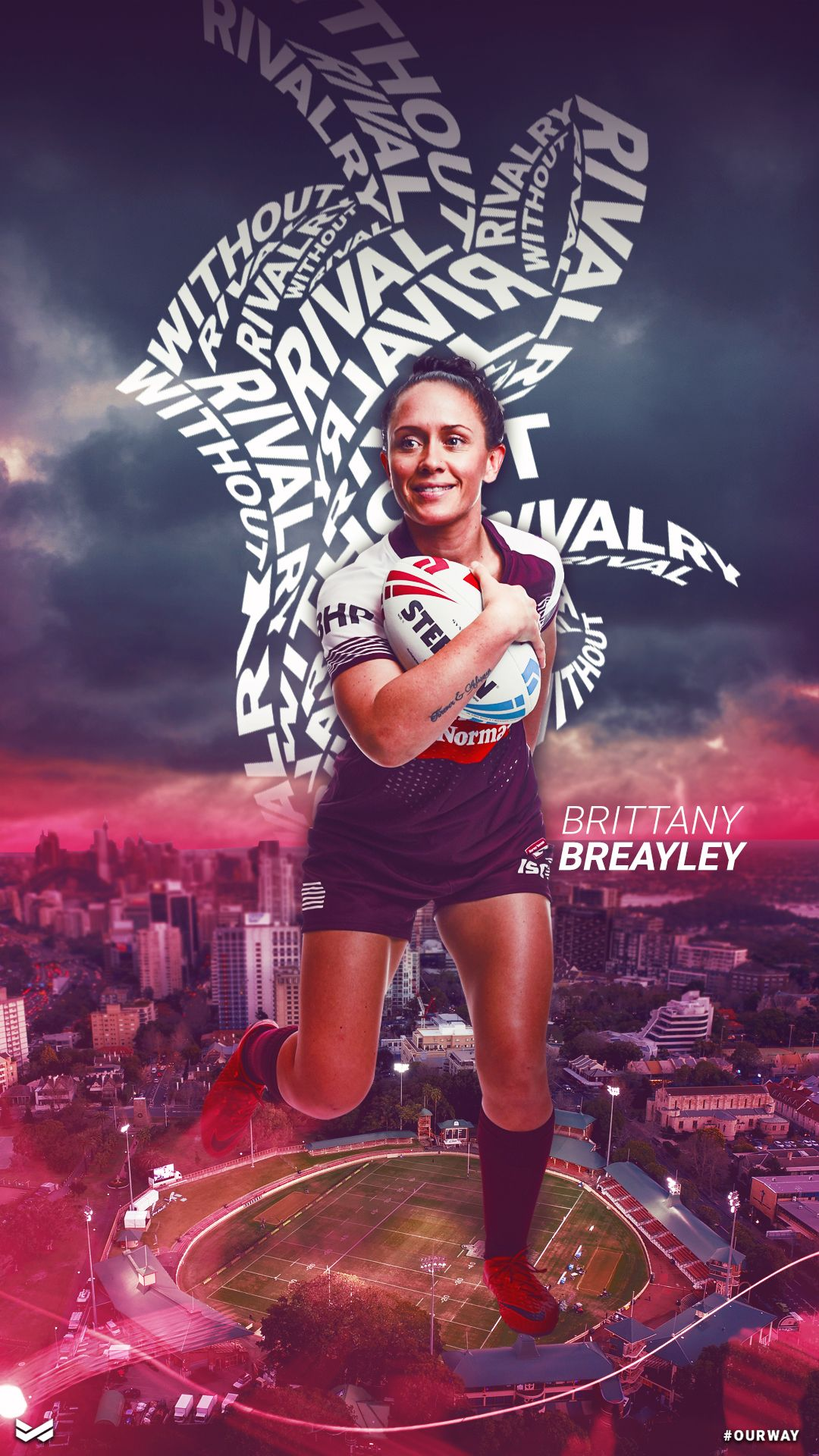 Wallpaper Women S Rugby League Brittany Breayley Rugby League Rugby Women