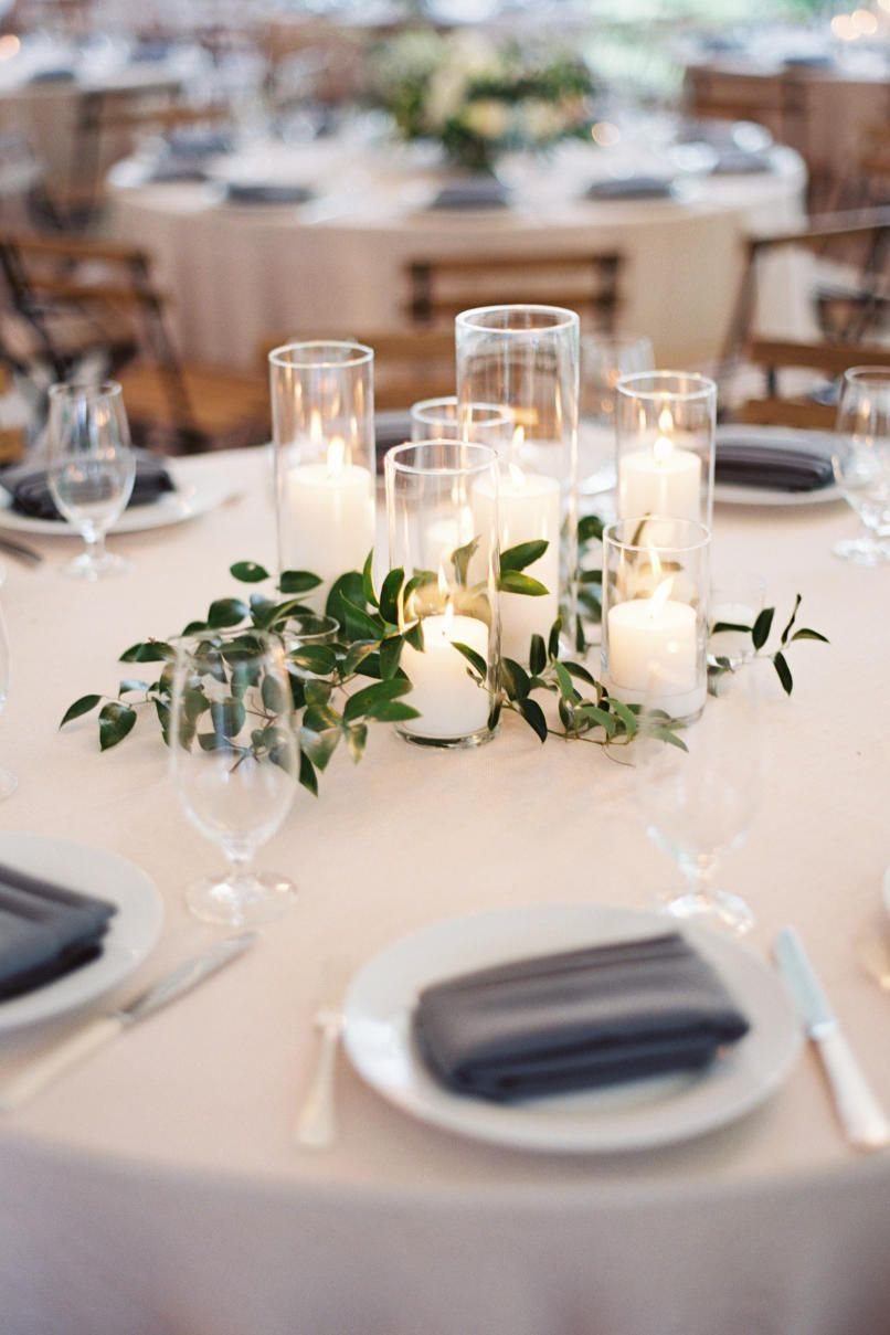 Beautiful Centerpieces Created With Candles Cheap Wedding Centerpieces Greenery Wedding Centerpieces Wedding Centerpieces