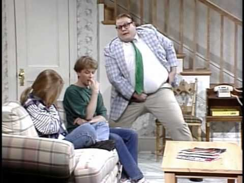 Chris Farley lives in a van down by the river  Funny sketches