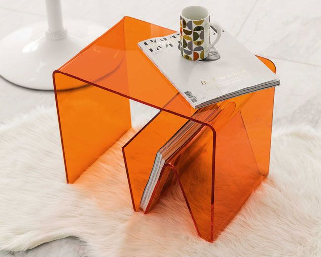 Columbia space age side table at maisons du monde bedroom