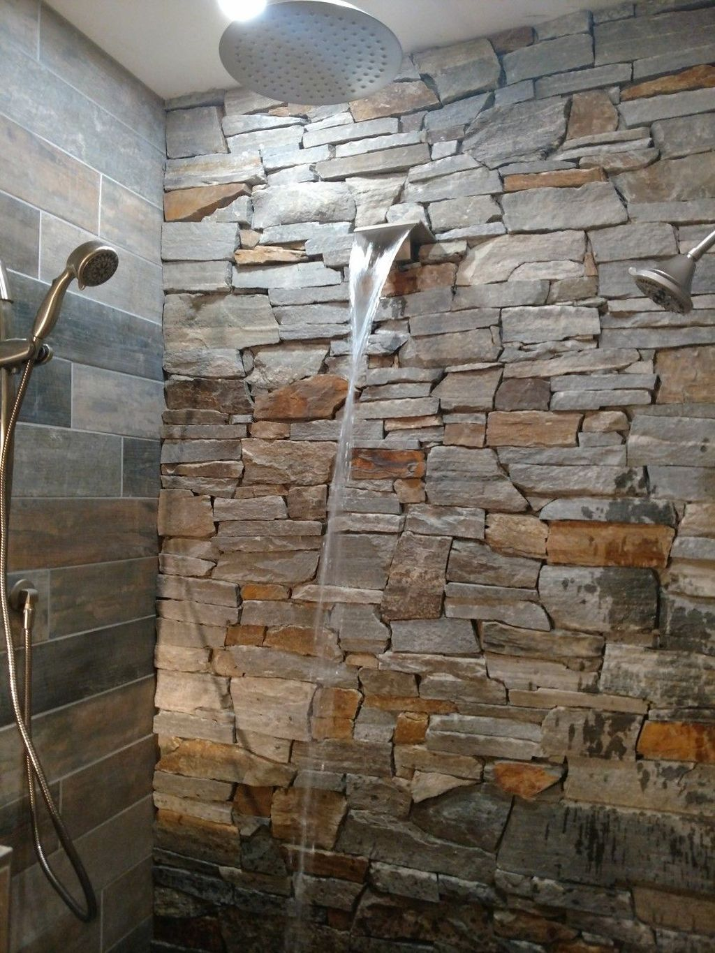 40 Spectacular Stone Bathroom Design Ideas: 40 Awesome Farmhouse Shower Tile Decor Ideas