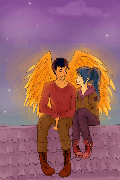 Karou and Akiva being cute as per usual
