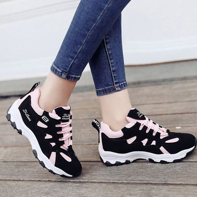 fashion women's breathable athletic sneakers casual