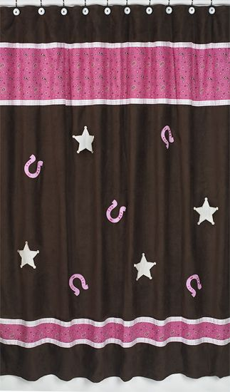 Cowgirl Shower Curtain By Sweet Jojo Designs