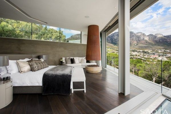 Attractive Cliff Over Atlantic Coast, Modern Bedroom Design