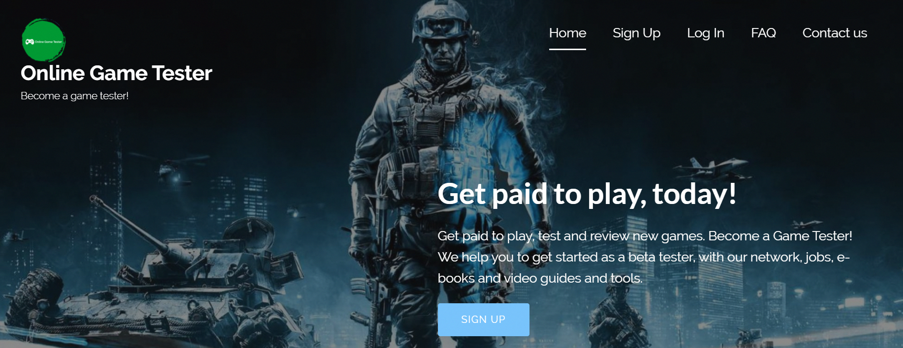 Get paid to play, test and review new games. a Game