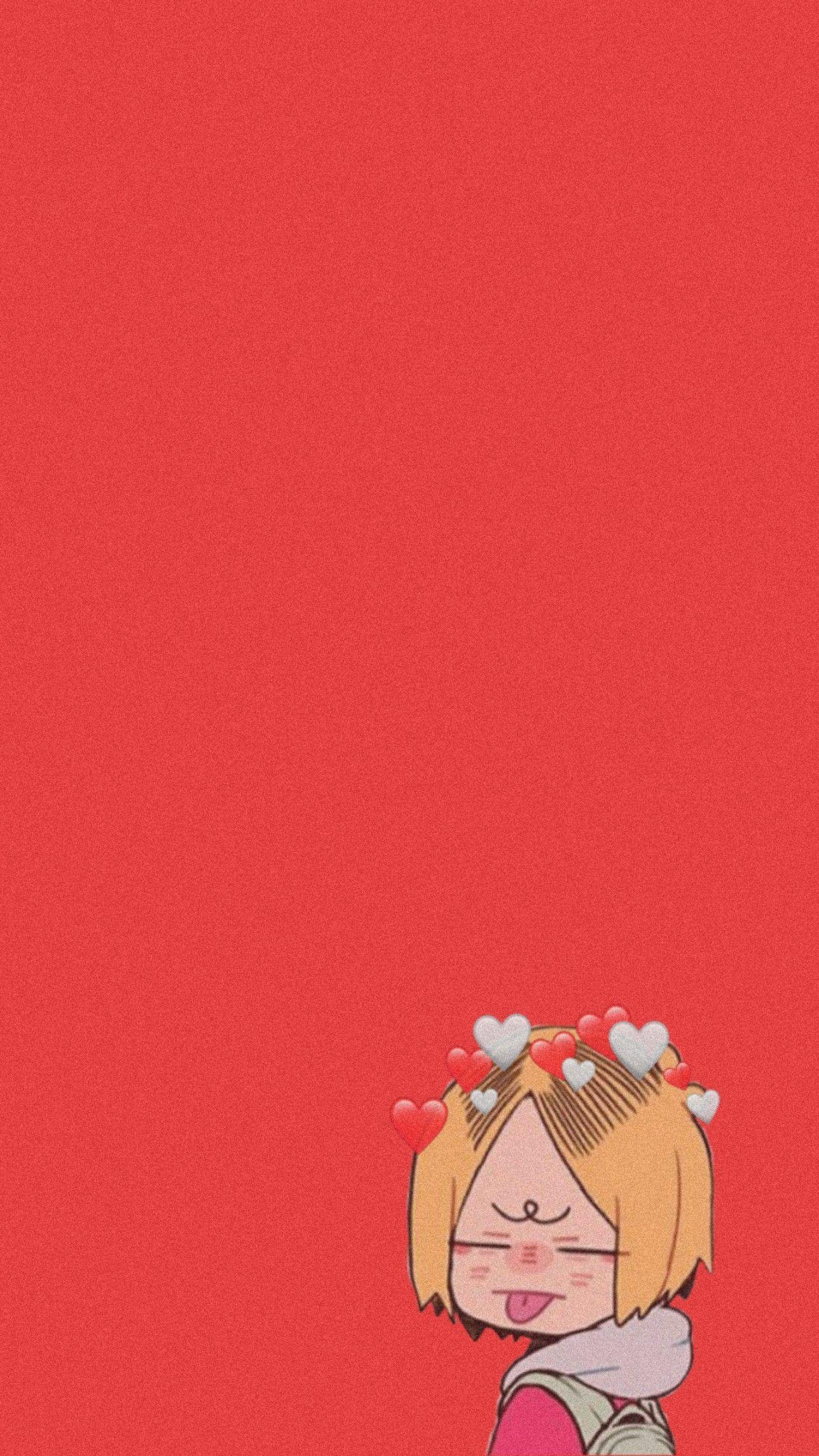 Kenma Kozume Wallpaper Haikyuu Wallpaper Chibi Wallpaper Cute Anime Wallpaper Anime chibi wallpaper red