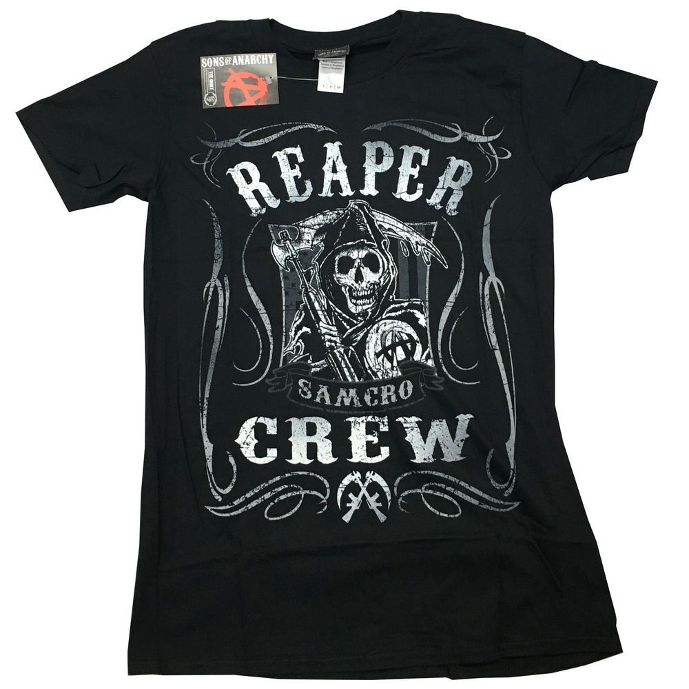 sons of anarchy official reaper crew jax samcro soa unisex. Black Bedroom Furniture Sets. Home Design Ideas