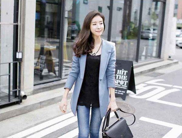 Blazer Wanita Korea Online Terbaru Bahan Polyester B2904 Model