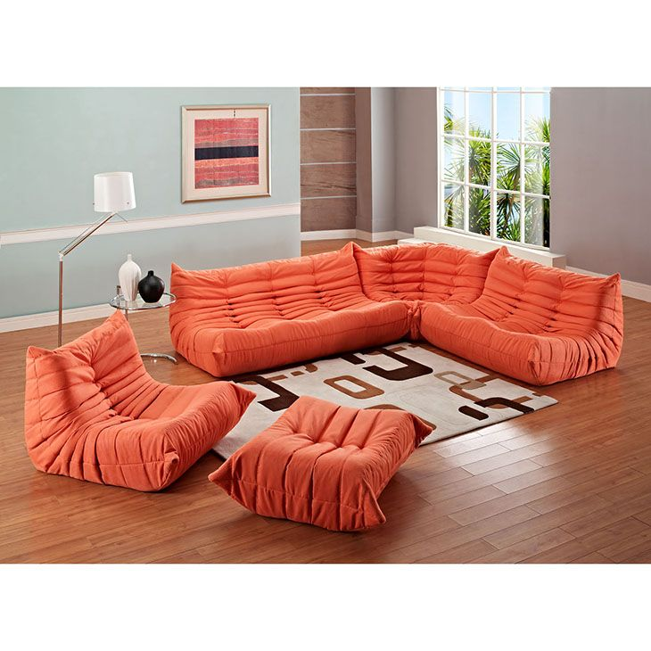 LexMod Waverunner Memory Foam Sectional Sofa Kohners Room
