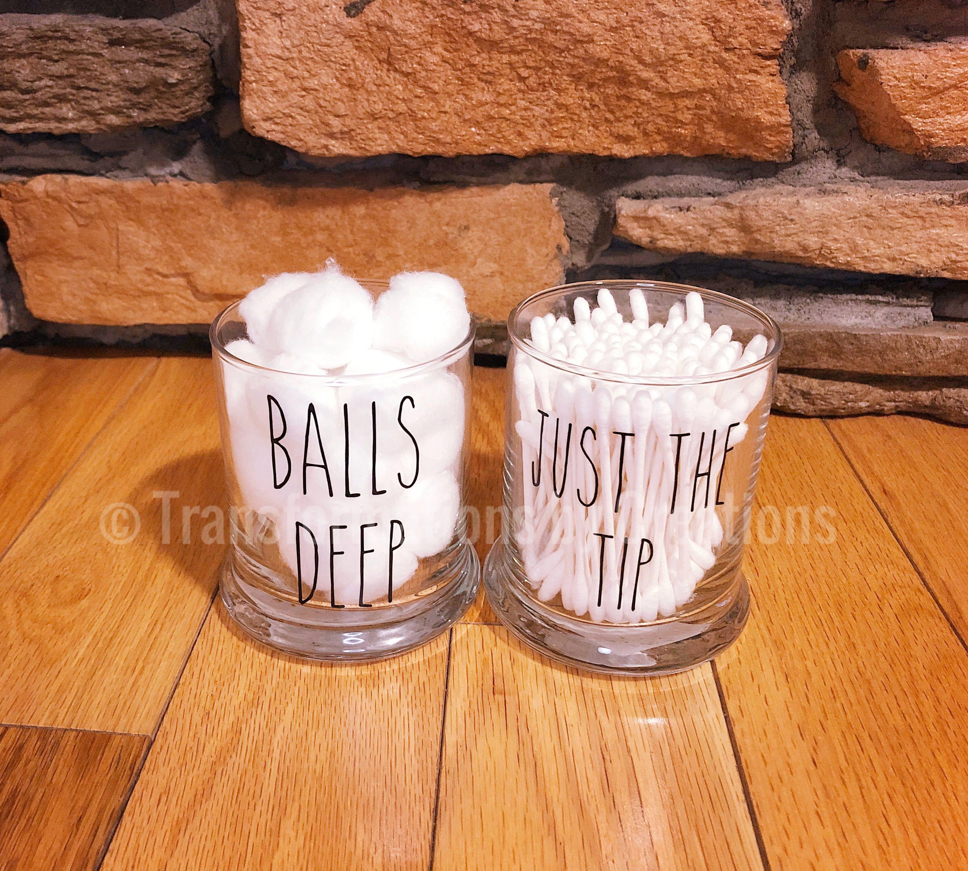 Bathroom Jars Storage In 2020 Cotton Ball Holder Q Tip Holder Beach Bathroom Decor Bathroom q tip holder