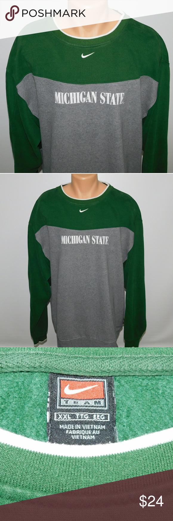 Nike Michigan State Crew Neck Sweatshirt Xxl Sweatshirts Crew Neck Sweatshirt Sweatshirt Shirt [ 1740 x 580 Pixel ]