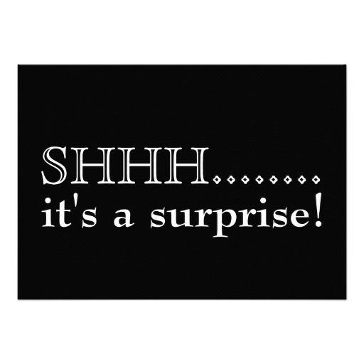 Shhh Itu0027s a surprise 50th birthday party Card 50 birthday - fresh birthday invitation jokes