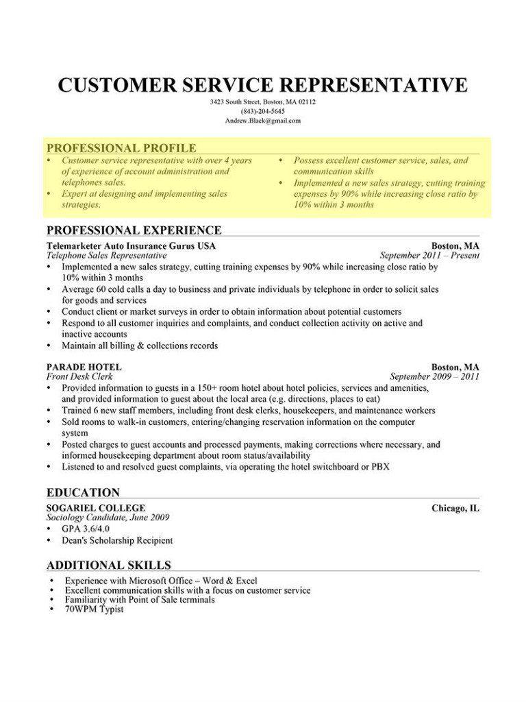 Resume Profile en 2020 Curriculum ejemplo, Curriculum