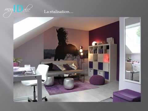 Déco Chambre Dado Fille Violette Chambre Alix Pinterest Ado - Cheval chambre idees de decoration