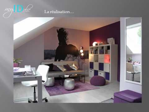 D co chambre d 39 ado fille violette chambre alix for Deco chambre d ado