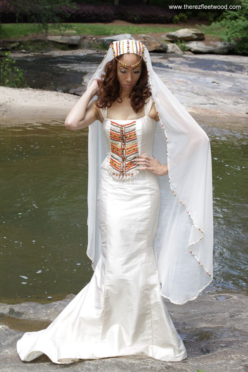 Native american wedding dress  World Couture custom designed wedding dresses by Therez Fleetwood