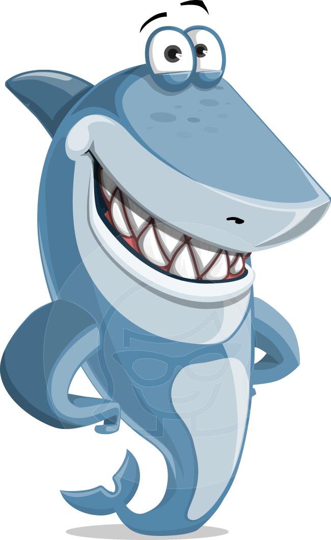 Smiling Shark Cartoon Illustration Vector Character Suitable For Any Project Need Graphicmama