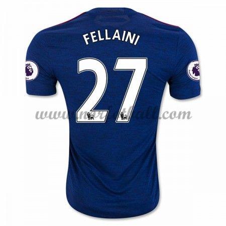 Billige Fotballdrakter Manchester United 2016-17 Fellaini 27 Borte Draktsett Kortermet