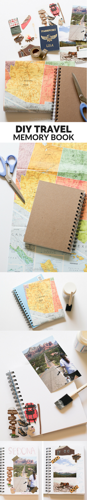 Create this easy, DIY travel memory book to document all of your adventures…