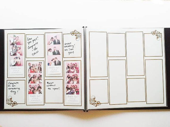 Gold And White Photo Booth Guest Book Album My Wedding Wedding