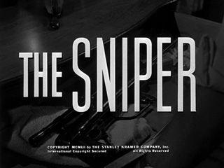 The sniper (1952) movie title