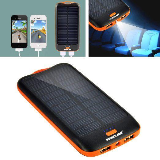 Amazon Com Poweradd Apollo 7200mah Solar Panel Portable Charger Backup External Battery Pack For Iphone 5s 5c Solar Panel Charger Htc One M9 Portable Charger