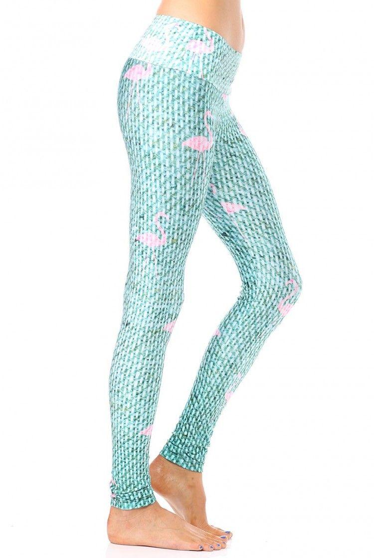 86bcef371e Goldsheep Green Flamingo Legging | Ayurveda | Yoga, Yoga leggings és ...