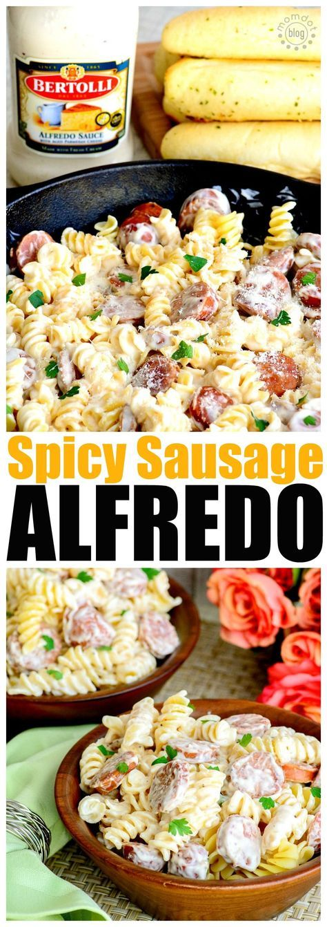 Spicy Sausage Alfredo for 2 images