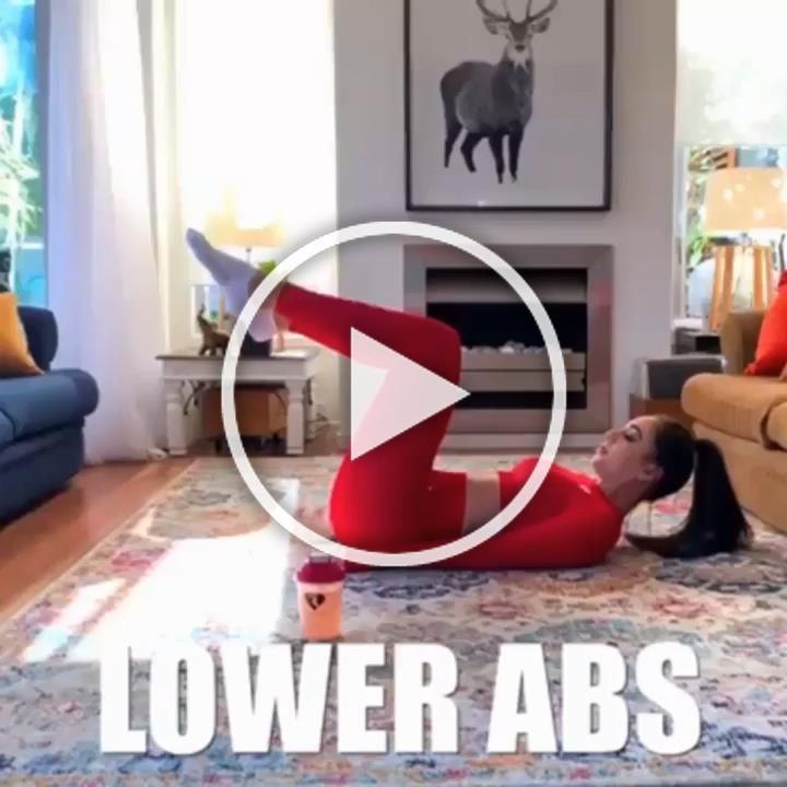 Flat stomach workout. Tone and tighten your abs and strengthen your core with this  at home ab worko...