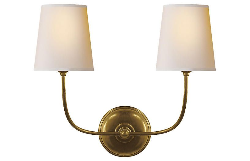 Bryant Sconce, Hand Rubbed Brass   Lighting By Visual Comfort   Week 37    Sales Events | One Kings Lane