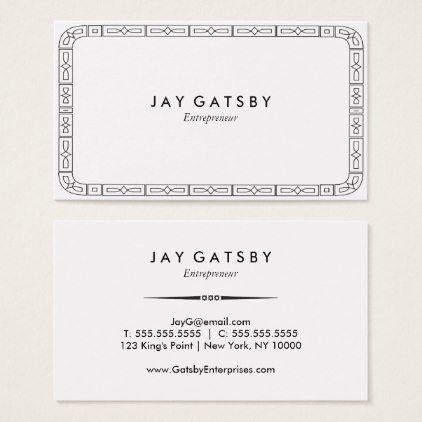 Classic art decoart nouveau business card colourmoves