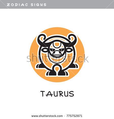 Bull Taurus Vector Icon Logo Zodiac Sign Symbol Of