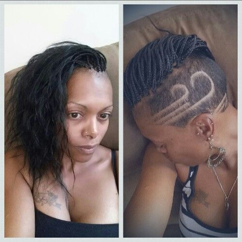 Micro Braids With Shaved Sides
