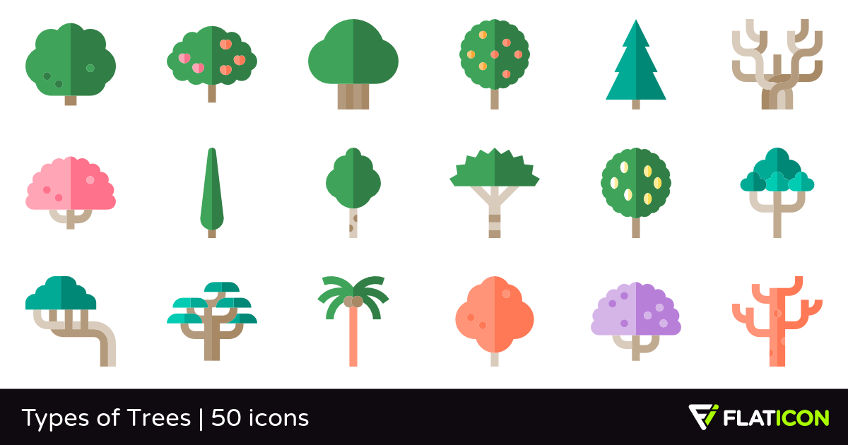50 Premium Vector Icons Of Types Of Trees Designed By Freepik Tree Designs Vector Icons Free Icons