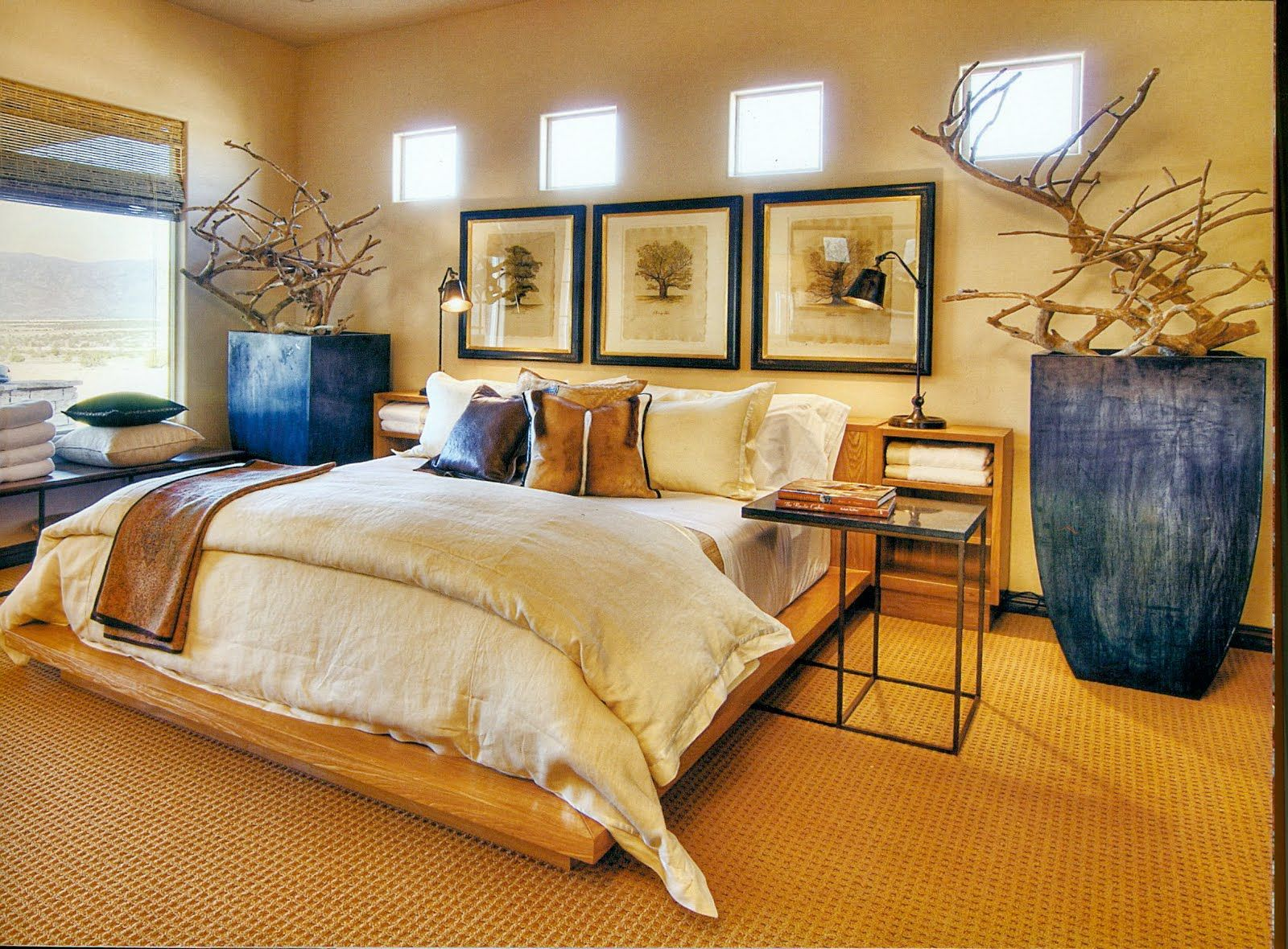 Decorating with african african contemporary bedroom for Beautiful master bedrooms and bathrooms