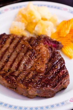 Home Cooked Delicious Medium-Rare Rib Eye Steak | Steak ...