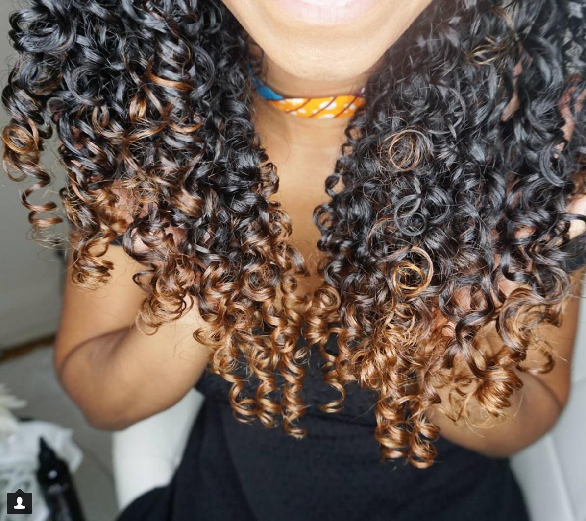 Naturally Curly Hair Caramel Balayage Naturally Curly Hair Highlights Curly Hair Styles Hair Highlights Caramel Hair