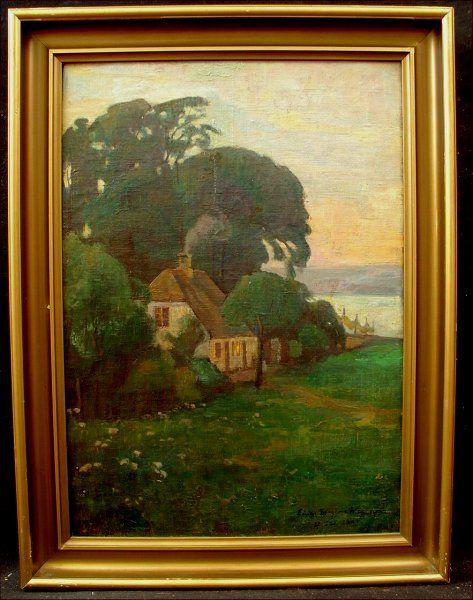 Fisherman S Cottage Oil Painting By Einar Morgens Wegener 1909