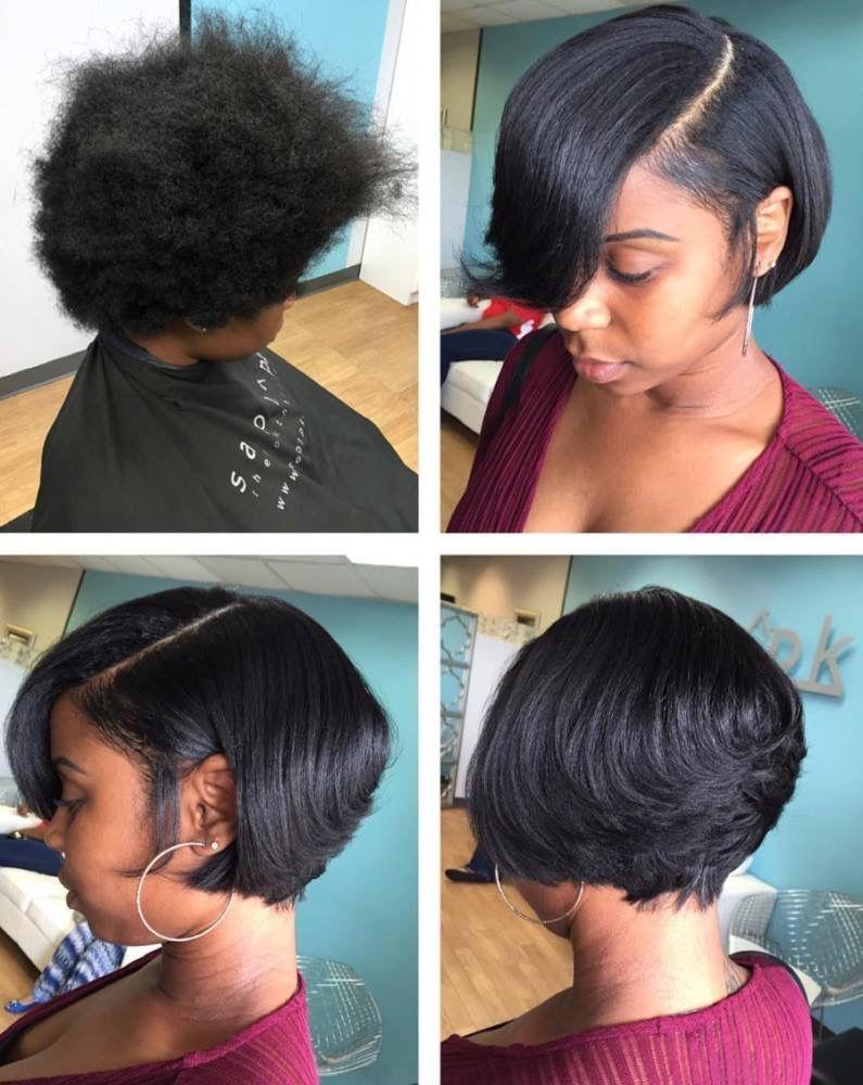 Silk press And cut Short Hair Styles Pinterest Silk Hair