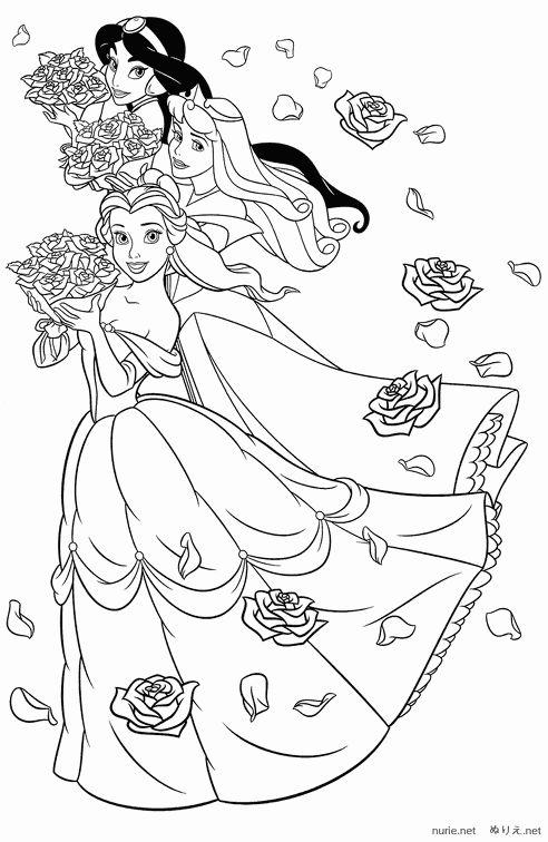 女の子のぬりえ お姫様たち ディズニーキャラクターのぬりえ 塗り絵 画像素材 無料テンプレート Naver まとめ Princess Coloring Pages Disney Coloring Sheets Rapunzel Coloring Pages