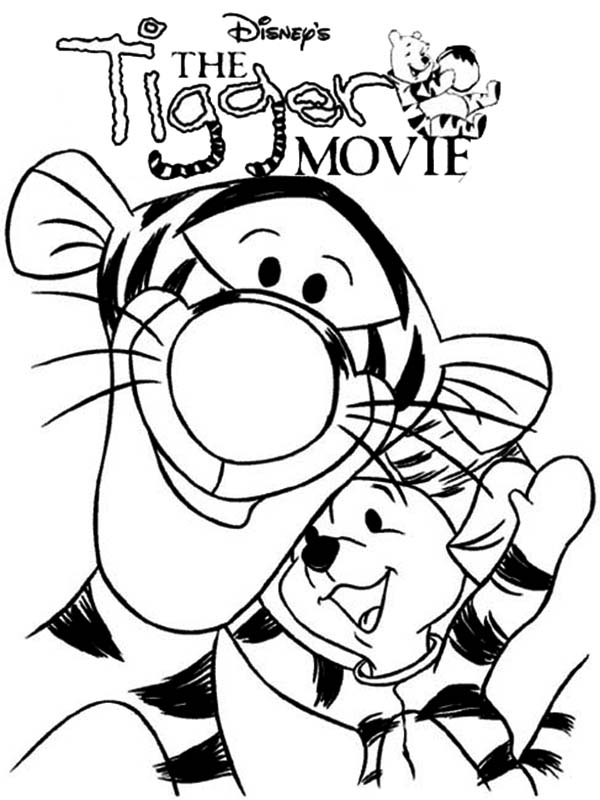 The Tigger Movie Coloring Page Coloring Sun di 2020