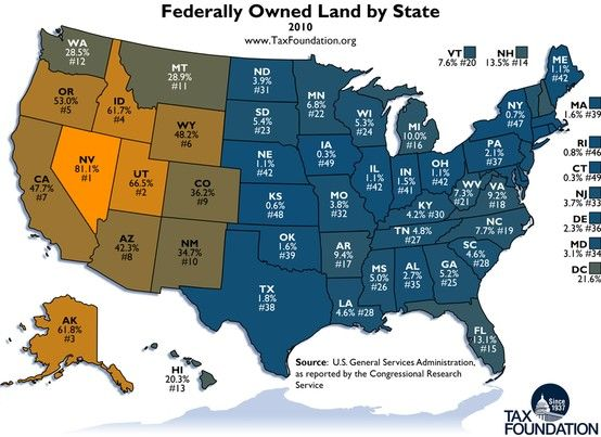 Federally Owned Land by State ~ REALLY? Can the federal government ...