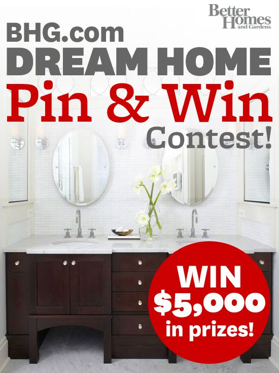 ❥ BHG's Pin & Win contest begins today! Create a 'Better Homes and Gardens Dream Home' board and pin at least 10 images from BHG.com for the chance to win big. Your pins must have a description and your board should only have BHG.com images on it. Visit us here for more details: http://www.facebook.com/mybhg?sk=app_154155761264099